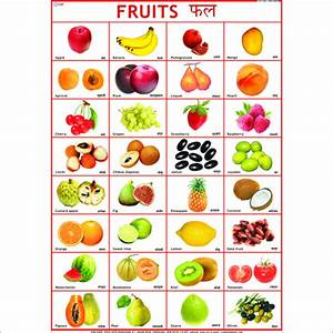 Name of all fruits chart