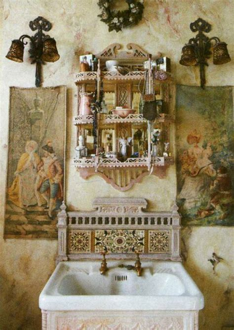 bohemian bathrooms images  pinterest bathroom
