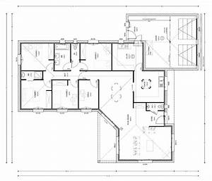 plan maison 4 chambres top maison With plans de maison en l 4 maison genille
