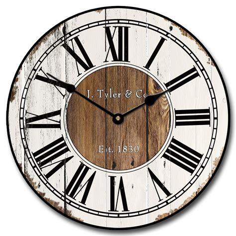 rustic wood wall clock antique  wall clocks
