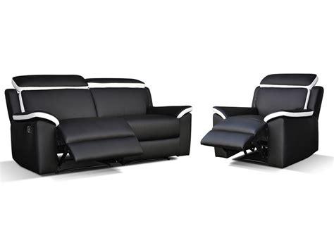 canapé relax électrique cuir canapé ét fauteuil relax gris blanc ou noir blanc souffle