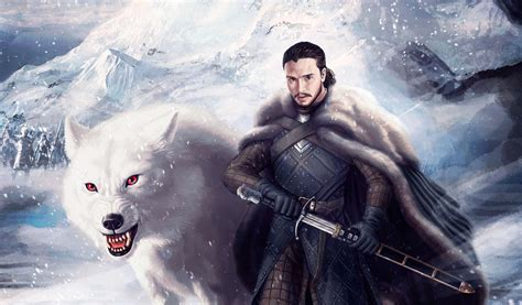 jon snow  ghost  hd tv shows  wallpapers images