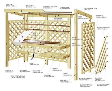 costruire una costruire una cucina da esterno in legno d abete