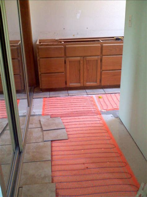Heated Bathroom Floor Systems Winter Construction Bathroom Remodeling In Gig Harbor