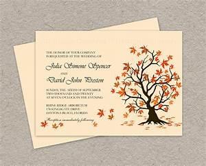 diy fall wedding invitation printable fall leaves wedding With free printable autumn wedding invitations