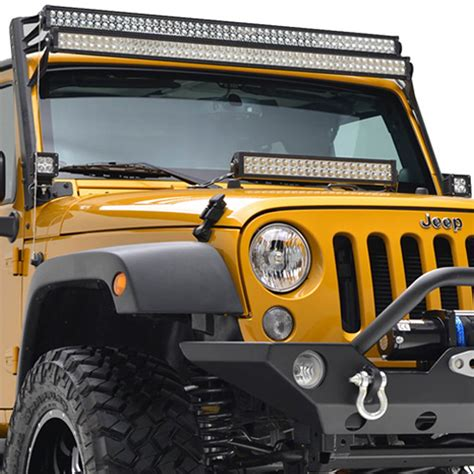 07 16 jeep wrangler jk 50 quot led light bars mount kit
