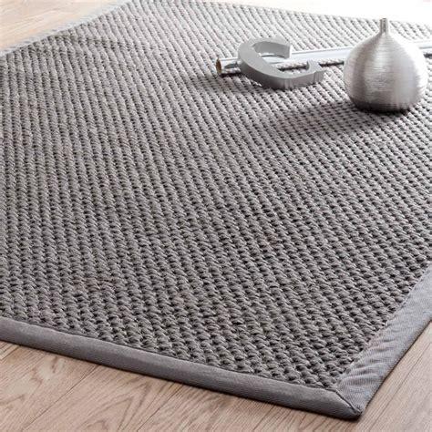 tapis de cuisine gris tapis tressé en sisal gris 160 x 230 cm bastide maisons