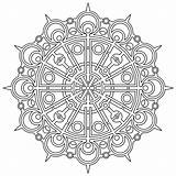 Geometric Pages Coloring Printable Patterns Mandala Adult Adults Difficult Hard Mandalas Flower Bird sketch template