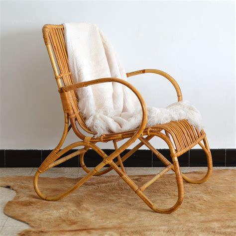 fauteuil en osier vintage fauteuil en rotin