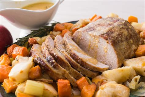 cutco kitchen knives roasted pork loin with vegetables and apples
