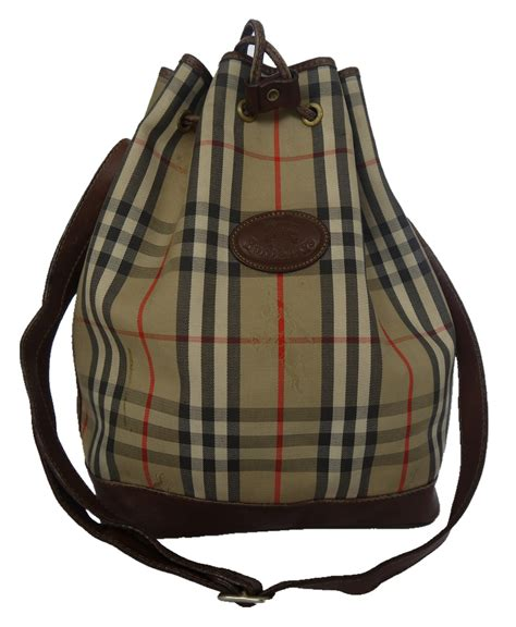vintage burberry london bucket bag