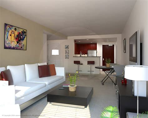 Apartement Living Room : Architectural Illustrations & Renderings Of Interiors