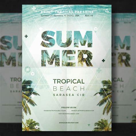 summer flyer psd file free