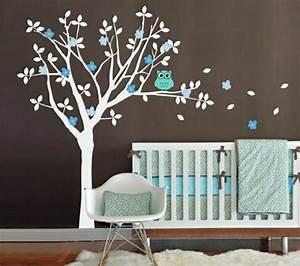 16 stickers muraux pour bien decorer la chambre de bebe With déco chambre bébé pas cher avec fleurs par internet pas cher