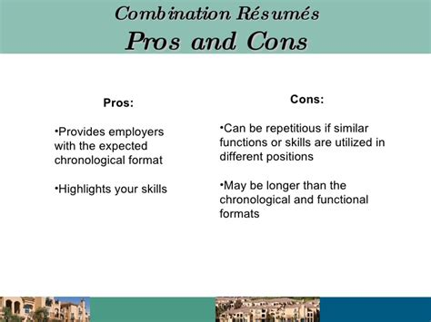 Chronological Resume Pros And Cons by R 233 Sum 233 Writing Presentation
