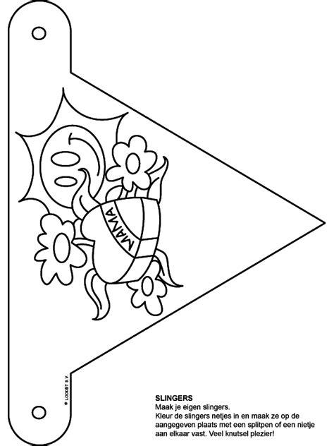 Beterschap Slinger Kleurplaat by Kleurplaat Slingers Moederdag Kleurplaten Nl
