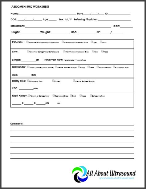 ultrasound worksheets images search