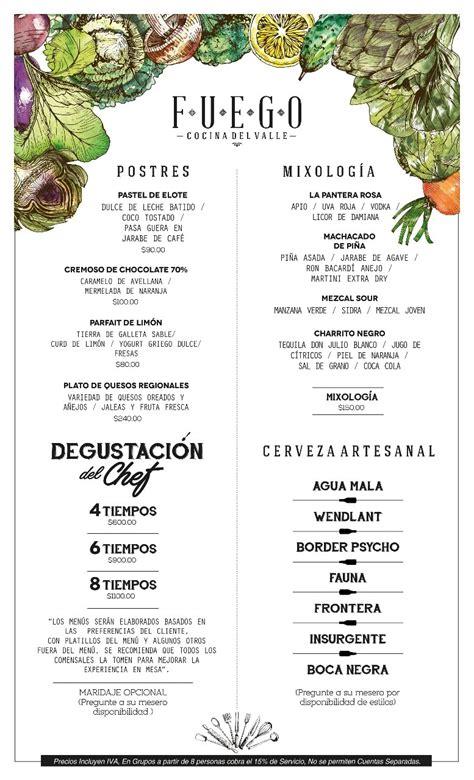 menu hotel boutique valle de guadalupe ensenada mexico