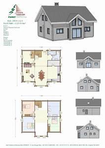 Plan Facade Maison : plan de maison villa basse ~ Melissatoandfro.com Idées de Décoration