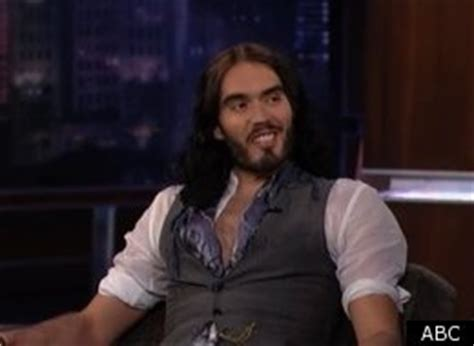 russell brand jimmy kimmel russell brand marriage actor discusses tattoo katy perry