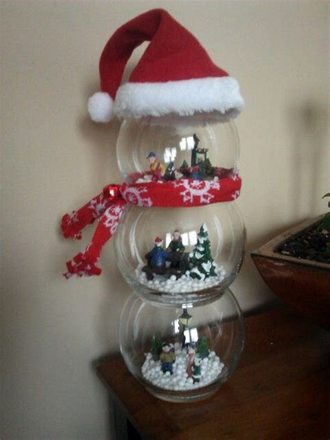 snowman globe diy christmas craft easy  pieces