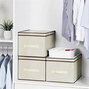 Stoffbox Mit Deckel : songmics faltbox mit deckel 3 st ck faltbare ~ A.2002-acura-tl-radio.info Haus und Dekorationen