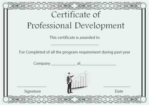 professional development certificate  completion
