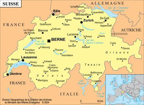 Carte Suisse suisse informations carte location de vacances suisse