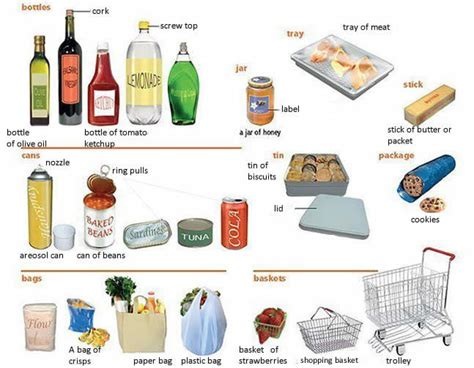 Food Containers Learning English