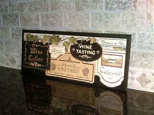 Items similar to wine cellar wall decor plaque tuscany
