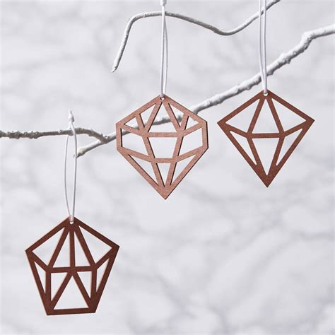 geometric copper christmas decorations by sophia victoria