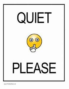 Printable Quiet Please Sign PDF free Download For ...