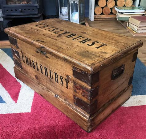 Check out our great range of coffee tables and storage coffee tables at very.co.uk. CHISLEHURST Trunk Storage Industrial Coffee Table Storage Chest | Dovetails Vintage