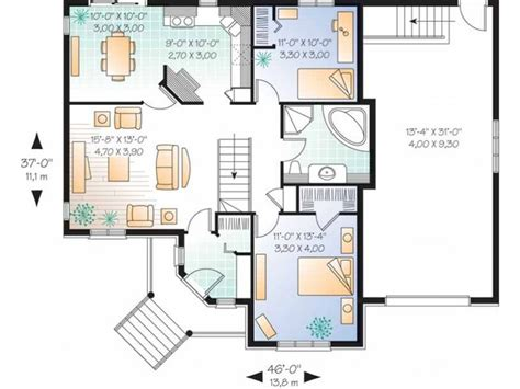 simple single story  bedroom house plans google search