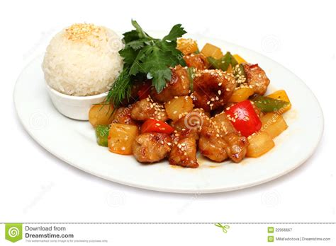 cuisine gourmet pork with rice gourmet food royalty free stock