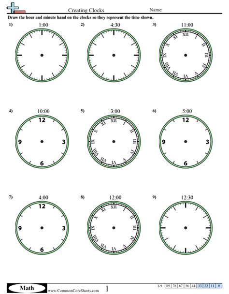 Time Worksheets  Free Commoncoresheets