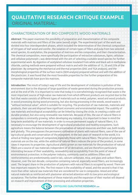 greatest critique paper  critiquing qualitative research