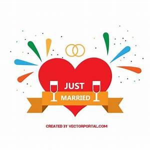 JUST MARRIED VECTOR GRAPHICS - Download at Vectorportal