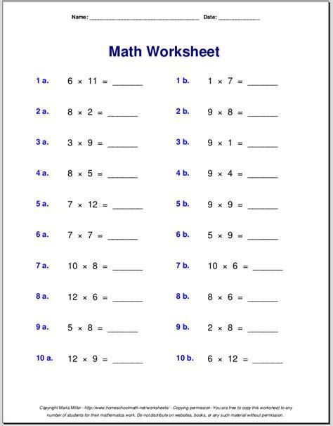 9 multiplication fact sheet maths times tables