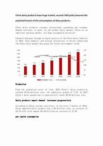China dairy products have huge market