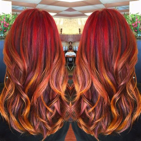 Sunset Hair Color Hair Nn Color De Cabello
