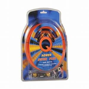 Qpower Super Flex 4 Gauge 3000 Watt Amplifier Wiring Amp