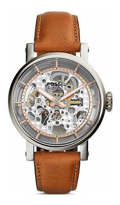 Fossil Skeleton Watches Automatic Boyfriend Leather 38mm