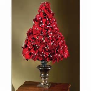 the 4 fiber optic poinsettia artificial christmas tree w planter tabletop ebay