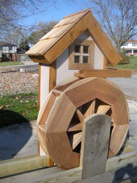 water wheel  house woodworking blog