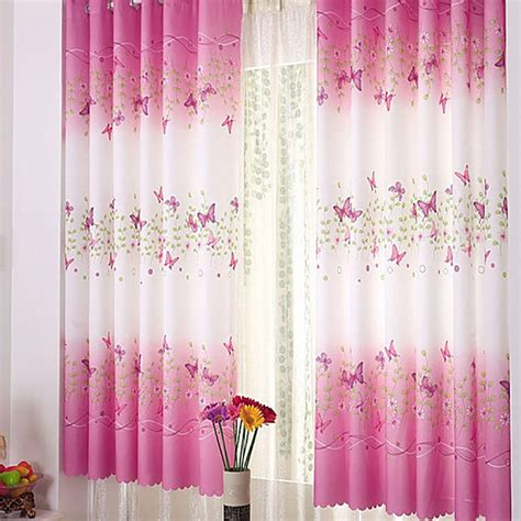 pink curtains for bedroom pink butterfly childrens bedroom finished curtain 16737