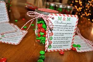 Candy Jar M&M Christmas Poem