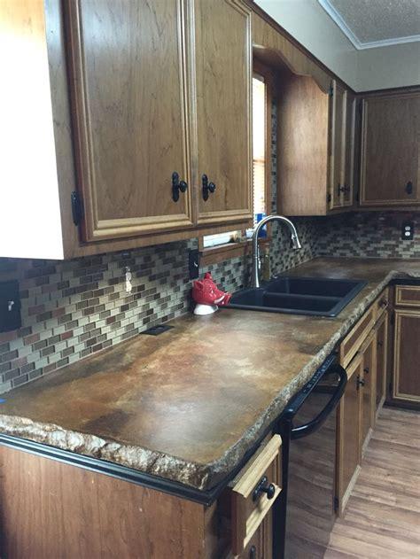 how to tile a kitchen floor on concrete kitchen renovation concrete countertops glass tile 9838