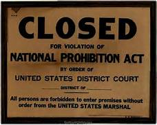 Photo  Closed for Violation of the National Prohibition Act  Prohibition 1920 Signs