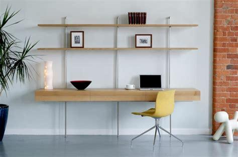 bureau fer et bois le bureau avec étagère designs créatifs archzine fr